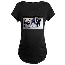 Ice Hockey Players and Referee Maternity T-Shirt