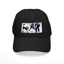 Ice Hockey Players and Referee Baseball Hat