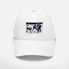 Ice Hockey Players and Referee Baseball Baseball Cap