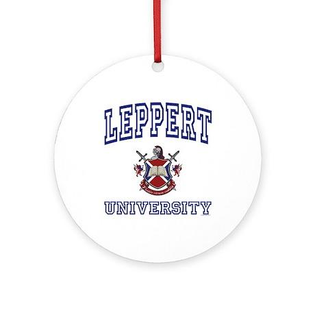 LEPPERT University Ornament (Round)