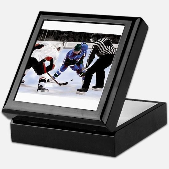 Ice Hockey Players and Referee Keepsake Box