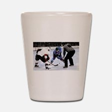 Ice Hockey Players and Referee Shot Glass