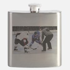 Ice Hockey Players and Referee Flask