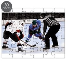 Ice Hockey Players and Referee Puzzle