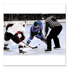 """Ice Hockey Players and R Square Car Magnet 3"""" x 3"""""""