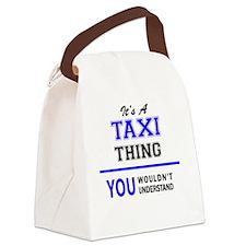 Cute Taxi Canvas Lunch Bag