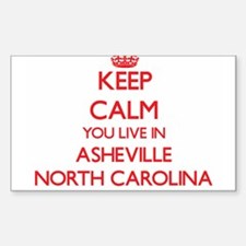 Keep calm you live in Asheville North Caro Decal
