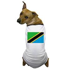 Tanzania Flag Dog T-Shirt