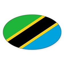 Tanzania Flag Oval Decal