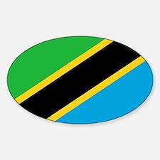 Tanzania Flag Oval Decal