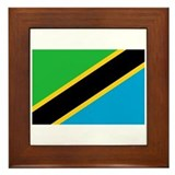 Tanzanian flag Framed Tiles