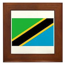 Tanzania Flag Framed Tile