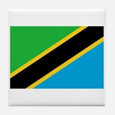 Tanzania Flag Tile Coaster
