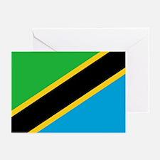Tanzania Flag Greeting Cards (Pk of 10)
