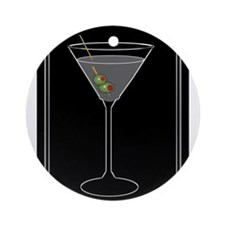 Modern Martini Ornament (Round)