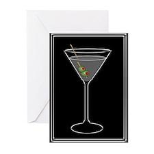 Modern Martini Greeting Cards