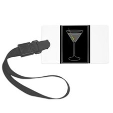Modern Martini Luggage Tag