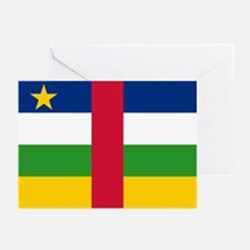 Central African Republic Flag Greeting Cards (Pack
