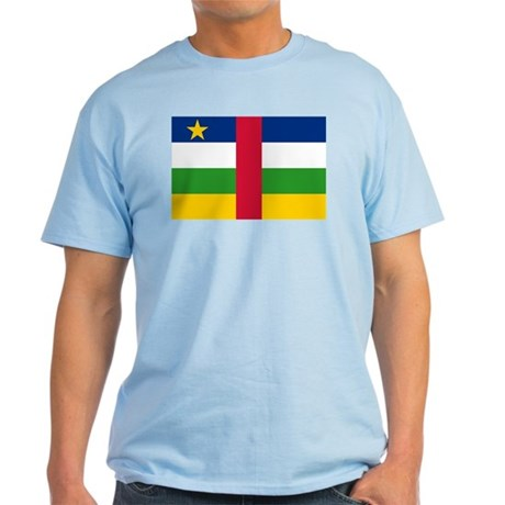 Central African Republic Flag Light T-Shirt