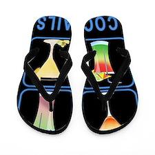 Four Cocktails in Neon Sign Flip Flops