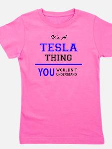 Funny Tesla Girl's Tee