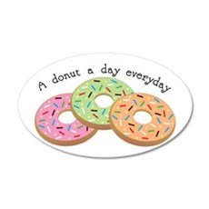 Donut_A Donut A Day Everyday Wall Decal
