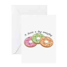 Donut_A Donut A Day Everyday Greeting Cards