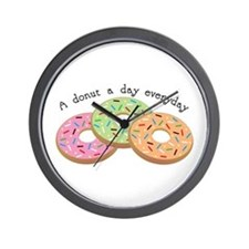 Donut_A Donut A Day Everyday Wall Clock