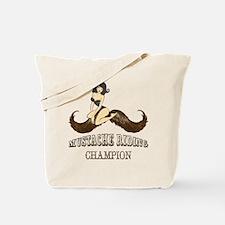 Mustache Riding Champion Tote Bag