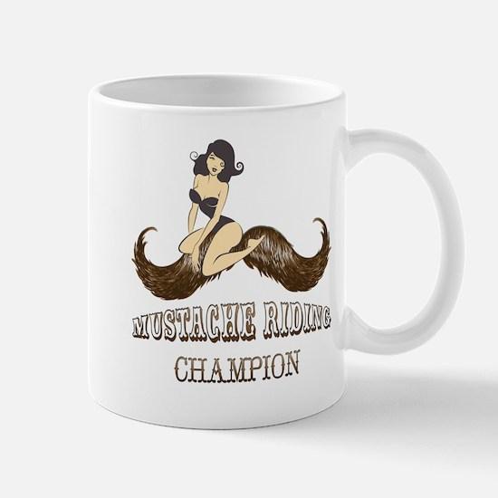 Mustache Riding Champion Mugs