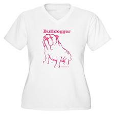 Bulldogger Logo Pink T-Shirt