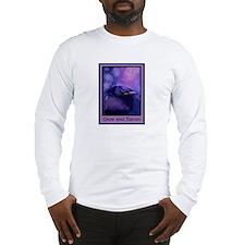 Night Crow Raven & Moon Long Sleeve T-Shirt