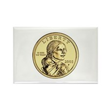 Sacagawea Dollar Rectangle Magnet