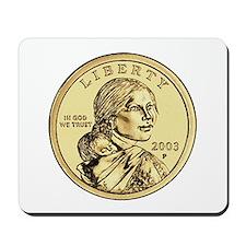 Sacagawea Dollar Mousepad