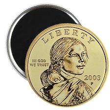 """Sacagawea Dollar 2.25"""" Magnet (10 pack)"""