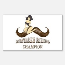 Mustache Riding Champion Decal