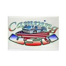Rv Camping Rectangle Magnet