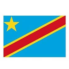 DR Congo Flag Postcards (Package of 8)