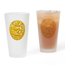Golden Dragon Drinking Glass