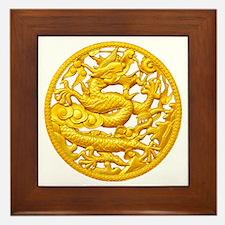 Golden Dragon Framed Tile