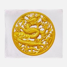 Golden Dragon Throw Blanket