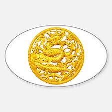 Golden Dragon Sticker (Oval)