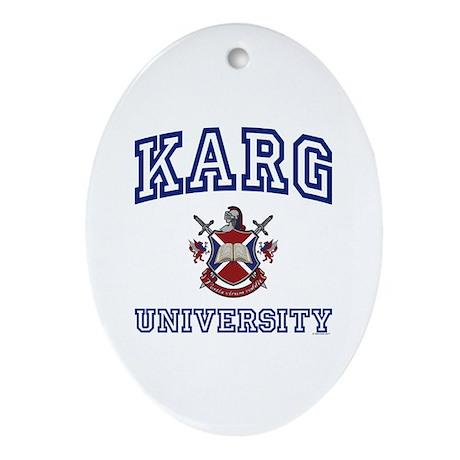 KARG University Oval Ornament
