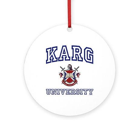 KARG University Ornament (Round)