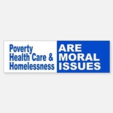 Moral Issues Bumper Bumper Bumper Sticker