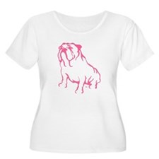 Bulldog Logo Pink T-Shirt