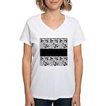 B&W Women's V-Neck T-Shirt