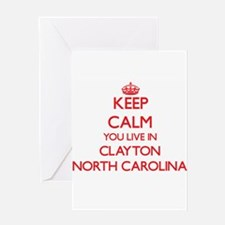 Keep calm you live in Clayton North Greeting Cards