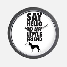 say hello to my little friend, boxer Wall Clock