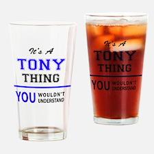 Unique Tony Drinking Glass